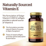 Solgar Vitamin E 268 mg (400 IU), 360 Alpha Softgels - Natural Antioxidant, Skin & Immune System Support - Naturally-Sourced Vitamin E - Gluten Free, Dairy Free - 360 Servings