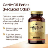 Solgar Garlic Oil Perles, 250 Softgels - Natural Cardiovascular Support - High-Quality Garlic Oil Concentrate, Reduced Odor - Gluten Free, Dairy Free - 250 Servings