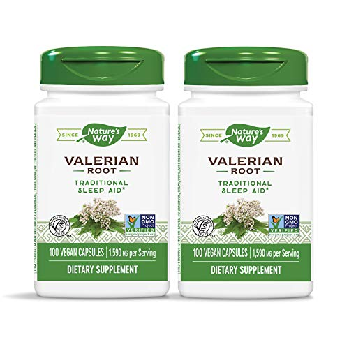 Nature's Way Valerian Root, 2 Piece Pack, 100 Count, 2 Pack