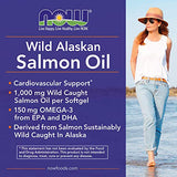 NOW Foods Supplements, Wild Alaskan Salmon Oil, 150mg Omega 3 From EPA and DHA, 200-Softgels