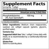 Doctor's Best Phosphatidyl Serine, Gluten Free, Memory Support, 100 Mg, 60 Softgels