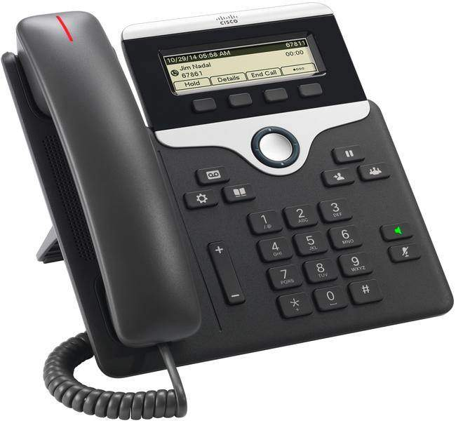 The Cisco 7811 IP Phone is the entry level model in the 7800 series. This model supports one SIP account and delivers advanced IP Telephony features. The Cisco 7811 has a generously sized greyscale display and supports PoE, an optional power supply is available for non-PoE deployments.