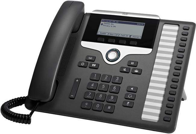 "The Cisco 7861 IP Phone forms part of the 7800 series. This model supports sixteen SIP accounts and delivers advanced IP Telephony features as well as crystal clear wideband audio. The Cisco 7861 has a generously sized 3.5"" greyscale backlit display and supports PoE, an optional power supply is available for non-PoE deployments. This model has 16 programmable memory keys which can be set up as line keys or can support call features, for example speed dialling with BLF."