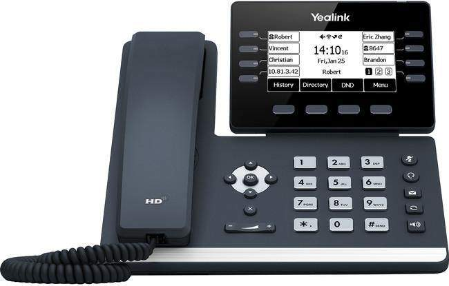 The Yealink T53W is an easy-to-use IP business phone, ideal for busy executives and professionals. With built-in Bluetooth 4.2 and dual band 2.4G/5G WiFi, the T53W offers an easy-to-use, future-proofed device without the need for any additional dongles.