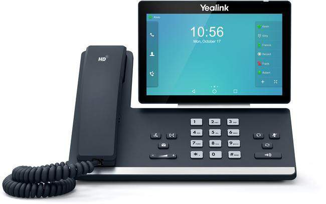"The Yealink T58A is an easy-to-use video-ready smart media SIP phone. Ideal for business professionals, this device is compatible with the CAM50 two-megapixel HD camera, giving users the ultimate flexibility to utilise the device as required. Featuring a large 7"" colour touch-screen users can enjoy productivity enhancing visual communication along with an enriched HD audio experience."