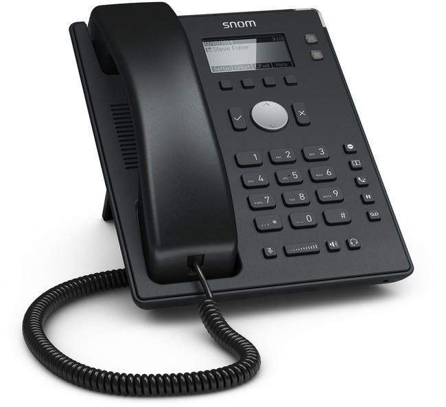 With the D120, Snom completes its phone series with a real entry-level device. Designed for large installations, such as those that can be found in the hotel- or healthcare industry, its straightforward design and exceptional audio quality meet all the requirements of an entry-level phone.The D120 is a no-frills phone without a large display, special function keys or features such as call holding for more than one call etc. and has been designed purely with stability and ease-of-use in mind.