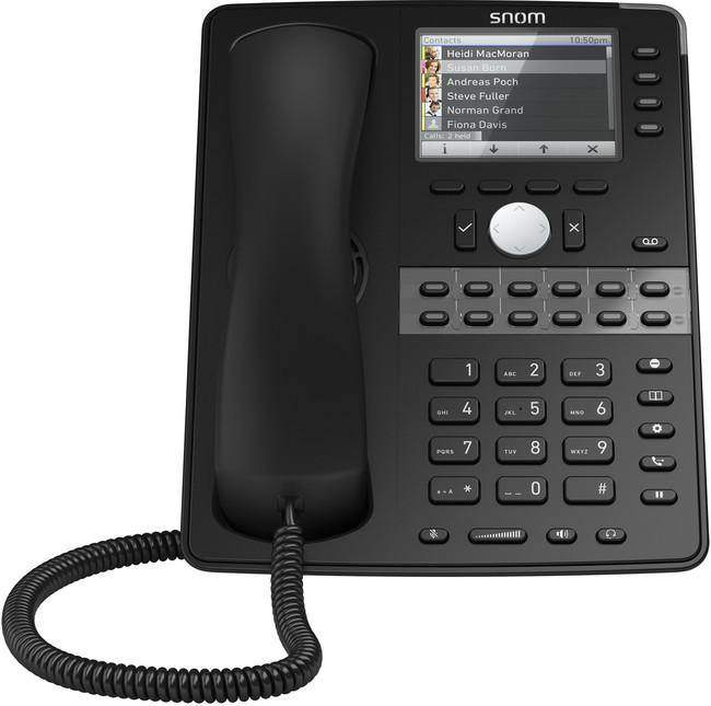 "The D765 combines ease of use, versatility, design quality and audio performance. It offers a 3.5"" high-resolution colour TFT display that delivers rich information – such as presence and photocaller ID – to the user. 16 freely programmable multicolour function keys can be configured for a variety of one-touch telephony functions such as speed dial, busy lamp field or presence indication."