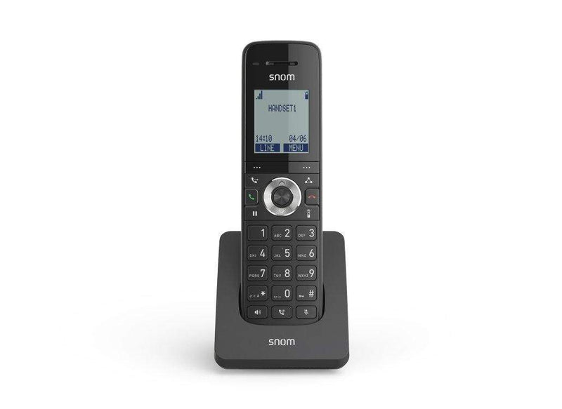 The Snom M15 SC is a high performance cordless DECT VoIP phone to be used with single-cell bases. This modern DECT telephone is easy to use and perfect for everyday business needs. With a wide 1.7'' panoramic display, illuminated keypad and excellent voice transmission, the Snom M15 SC is a hardworking device with numerous functions.