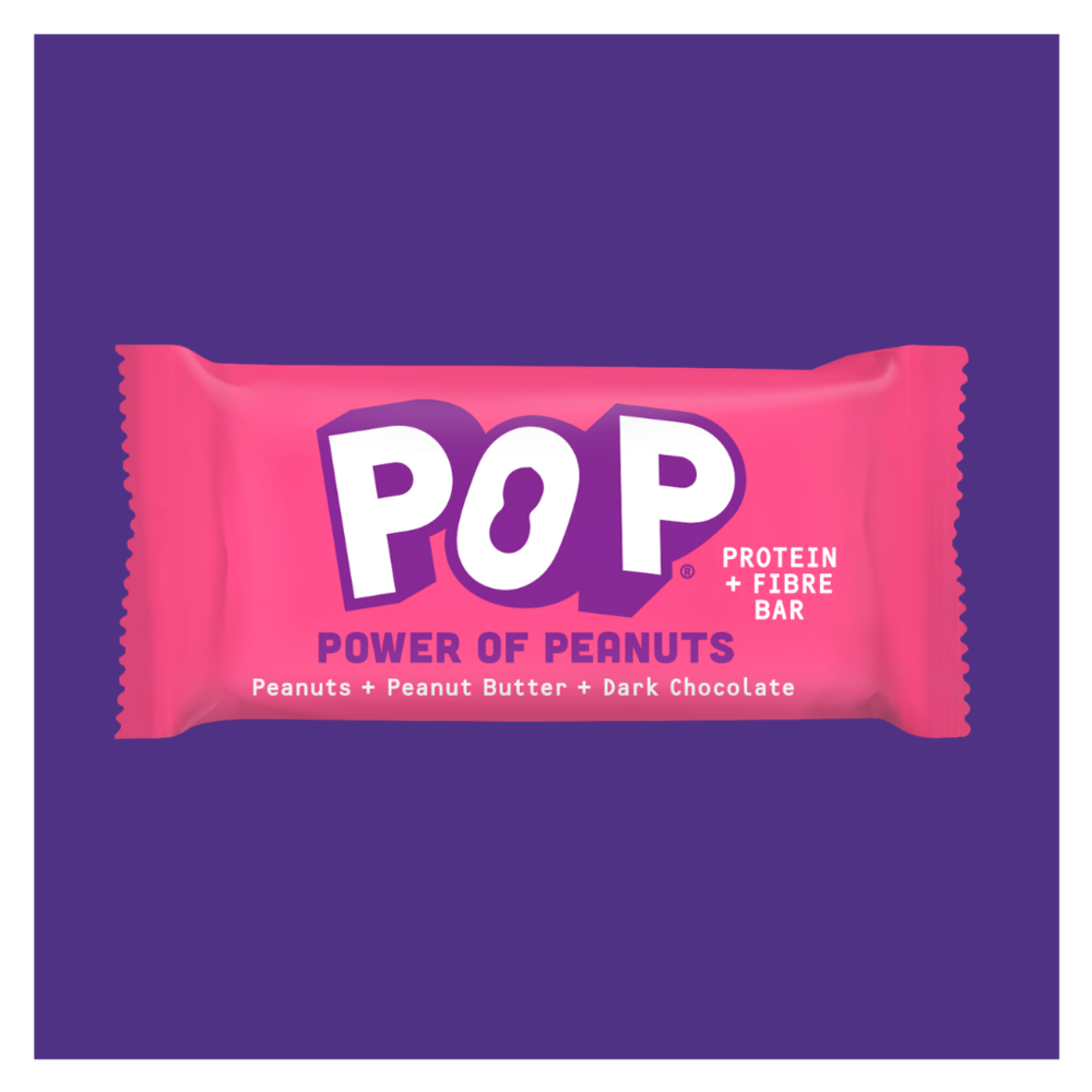 POP Power of Peanuts 1 x 40g bar Peanuts + Peanut Butter + Dark Chocolate