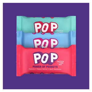 POP Power of Peanuts 3-pack x 40g bars (mixed flavours)