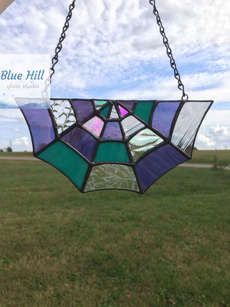 Spider Web Stained Glass Sun Catcher-Multiple Colors
