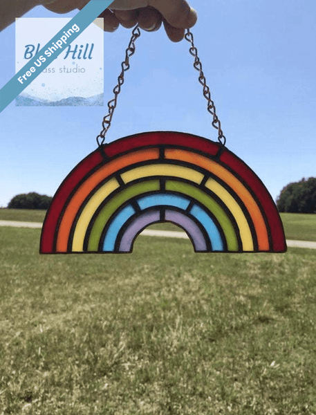Rainbow Stained Glass Sun Catcher