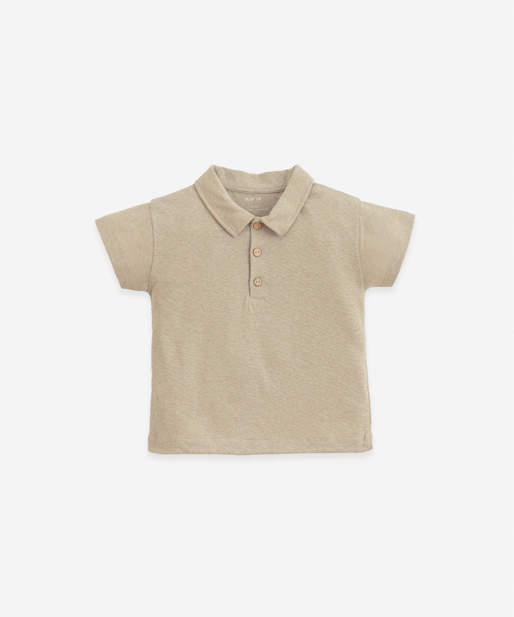 Polo marron de niño de la marca Play UP