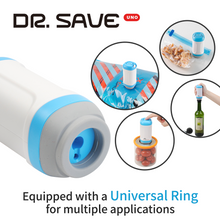 Load image into Gallery viewer, Food Saving Handheld Vacuum Sealer DR. SAVE UNO Food Set