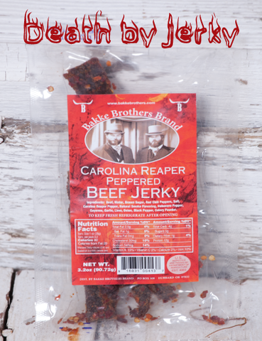 Death by Jerky (Carolina Reaper Jerky)