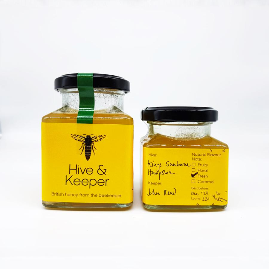 Raw Honey from Kings Sombourne, Hampshire (fresh)-Hive & Keeper