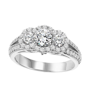 REGAL COLLECTION: DIAMOND THREE STONE ENGAGEMENT RING WB5826E
