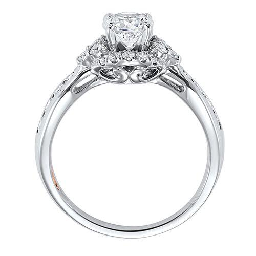 DIAMOND HALO ENGAGEMENT RING RG58517