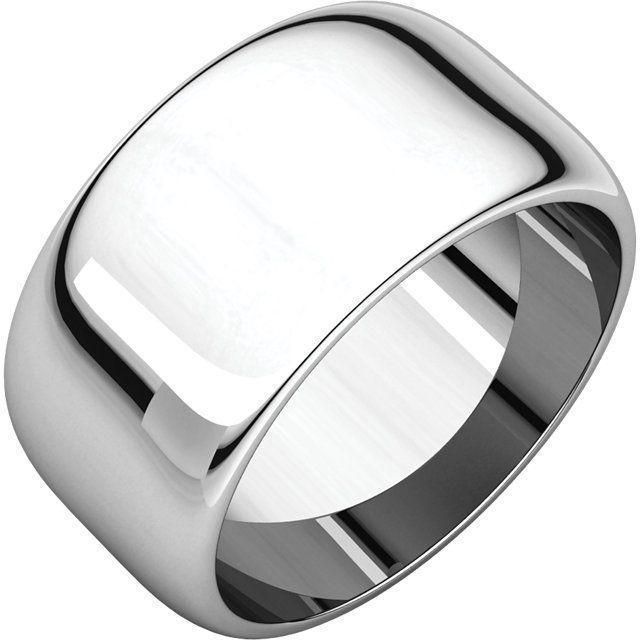 HALF ROUND MEN'S SILVER WEDDING RING