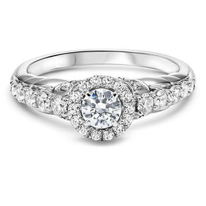 DIAMOND HALO ENGAGEMENT RING RG54776