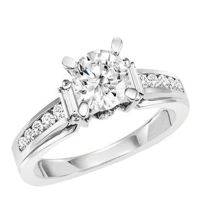THREE STONE DIAMOND ENGAGEMENT RING BY NIKI J NVS7008E