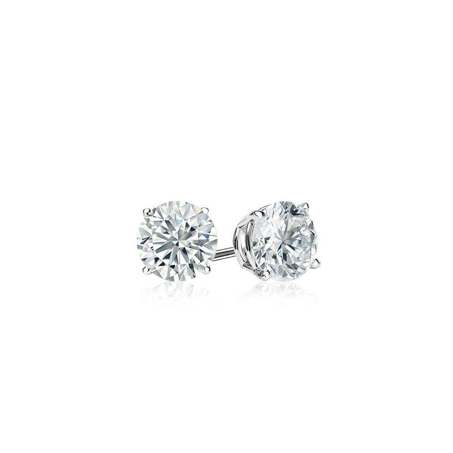 DIAMOND STUDS ON WHITE GOLD, THREE-QUARTER CARAT