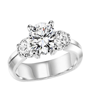 THREE STONE DIAMOND ENGAGEMENT RING BY NIKI J NVS7046E
