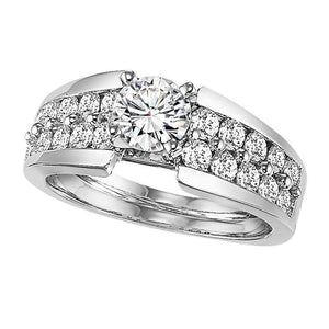 EXQUISITE COLLECTION: DIAMOND THREE STONE ENGAGEMENT RING WB5667E
