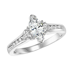 EXQUISITE COLLECTION: DIAMOND SOLITAIRE WEDDING SET WB5809E/W