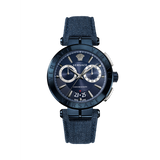 BLUE DENIM AION CHRONO WATCH - XSJewelers