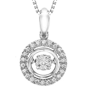 RHYTHM OF LOVE SILVER DIAMOND PENDANT ROL1028
