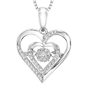 RHYTHM OF LOVE SILVER DIAMOND PENDANT ROL1029