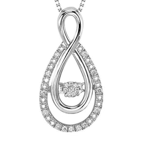 RHYTHM OF LOVE SILVER DIAMOND PENDANT ROL1030