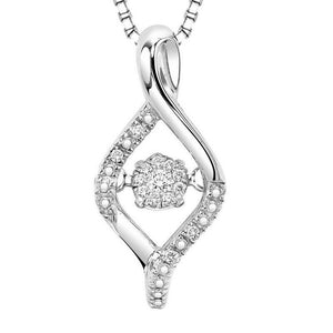 RHYTHM OF LOVE SILVER DIAMOND PENDANT ROL1031
