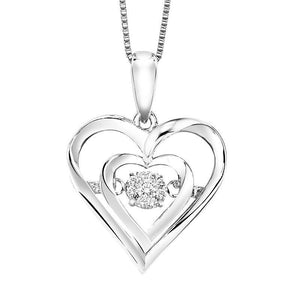 RHYTHM OF LOVE SILVER DIAMOND PENDANT ROL1045