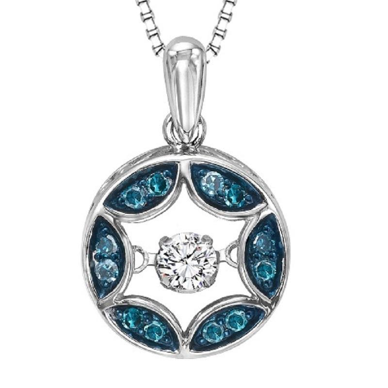 RHYTHM OF LOVE SILVER DIAMOND PENDANT ROL1055BL