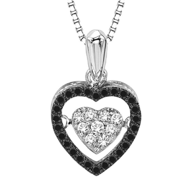 RHYTHM OF LOVE SILVER DIAMOND PENDANT ROL1057BLK