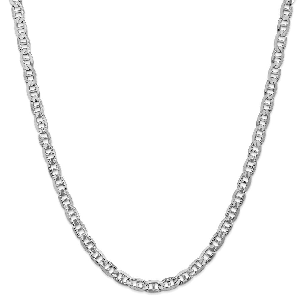 14KT WHITE GOLD MARINER CHAIN