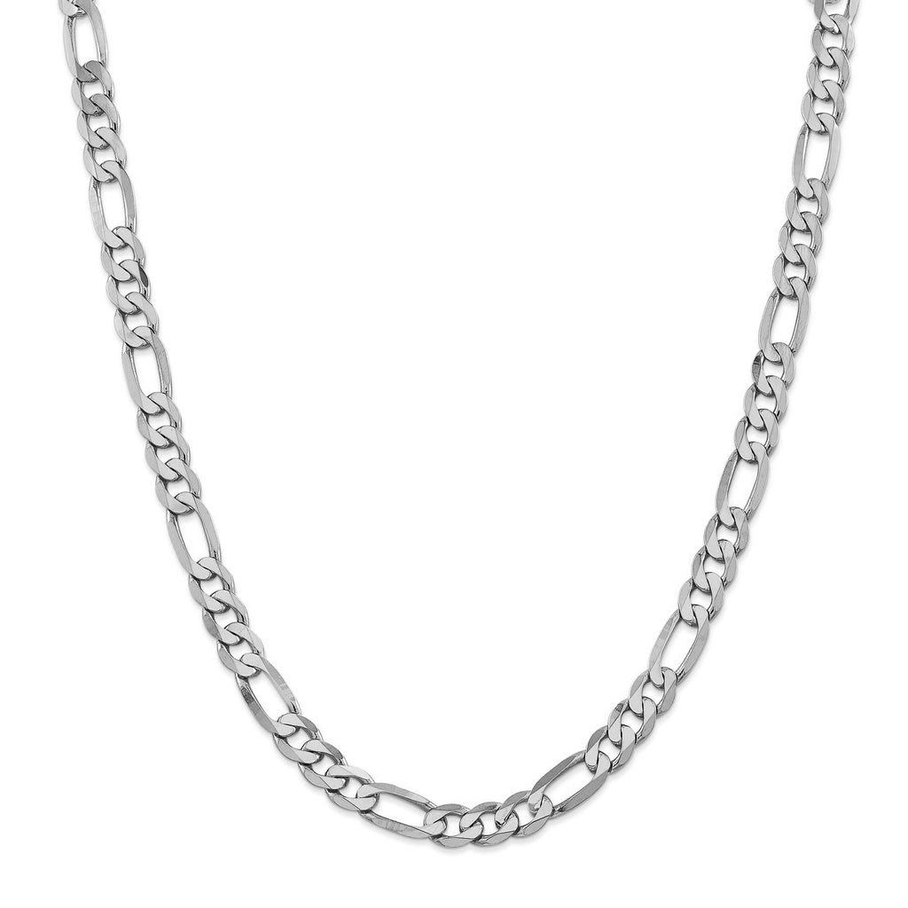 14KT WHITE GOLD FIGARO CHAIN