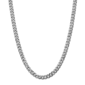 14KT WHITE GOLD CURB CHAIN