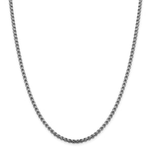 14KT WHITE GOLD ROUND BOX CHAIN