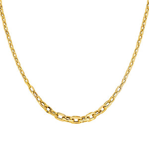 14KT GOLD GRADUATED CABLE LINK NECKLACE
