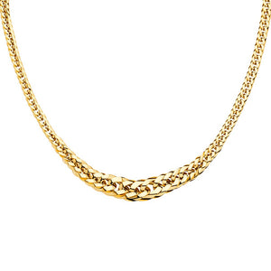 14KT GOLD GRADUATED CURB LINK NECKLACE