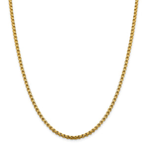 14KT GOLD ROUND BOX CHAIN