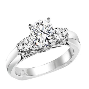 THREE STONE DIAMOND ENGAGEMENT RING BY NIKI J NVS7029E