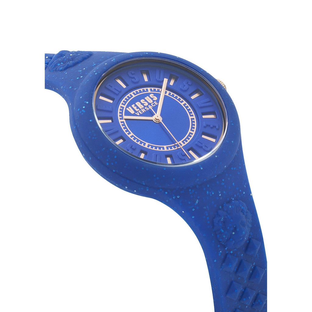 BLUE FIRE ISLAND GLITTER WATCH