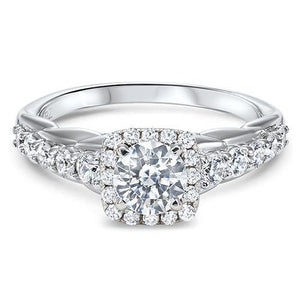 DIAMOND HALO ENGAGEMENT RING RG54775