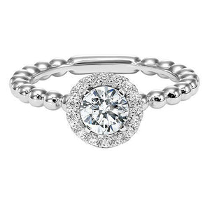 DIAMOND HALO ENGAGEMENT RING RG54778