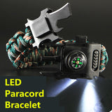 4mm Survival Paracord Bracelet LED Multi-function