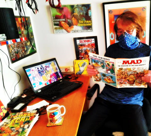 Bobby P reading an issue of MAD